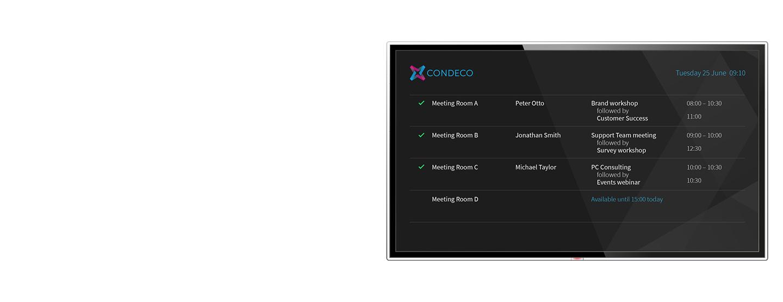 Condeco Wayfinder screen